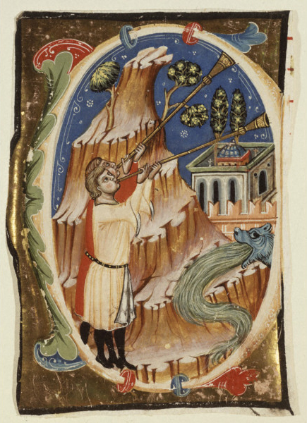 Apocalytic Scene. Late 13th - early 14th Century. Work is in the Public Domain.
