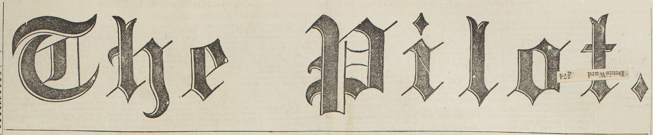 Masthead for older issue of the Pilot Newspaper
