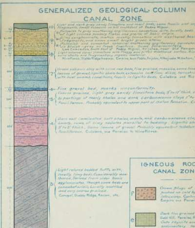 geological column - canal zone