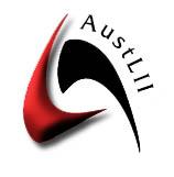 Austlii logo, Source: www.austlii.edu.au/au/journals
