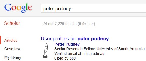 Example Google Scholar profile in results listing [Image Source: Google Scholar]