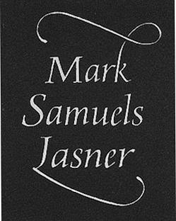 Mark Samuel Lasner white text on black background