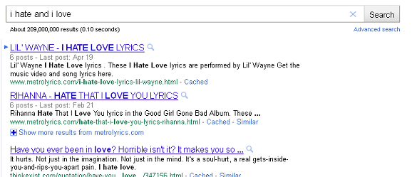 Searching without quotes