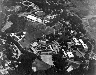 Aerial of campus from 1963