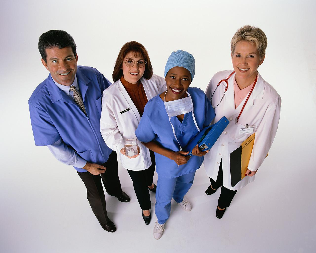 Decorative image of health professionals