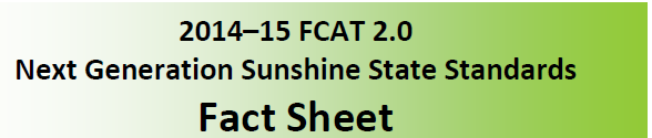Next Generation Sunshine State Standards Fact Sheet Logo