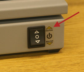 on and off switch for microfilm