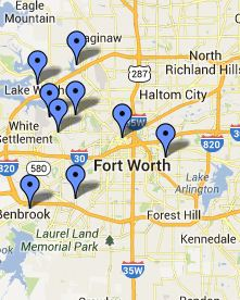 Fort Worth Campus Regional Libraries Map