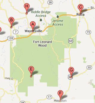 Fort Leonard Wood Map