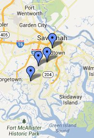 Map of Hunter Army Airfield Local Libraries
