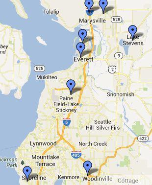 Everett-Marysville Small Map