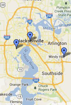 NAS Jacksonville Local Libraries Map