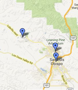 San Luis Obispo Local Libraries Map