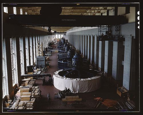 Generator Room at T V A Hydroelectric Plant in Wilson Dam, AL