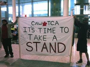 Air Canada Strike - CAW