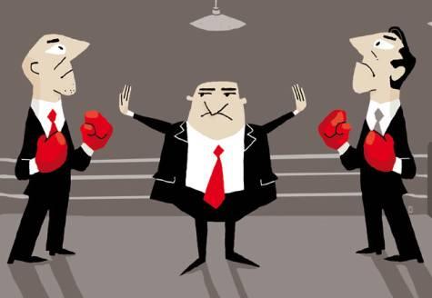 battling businessmen