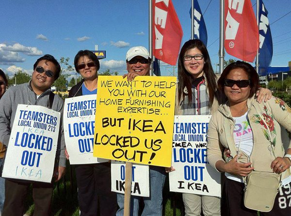 Photo of Ikea Richmond Lockout/Strike 2013-2014