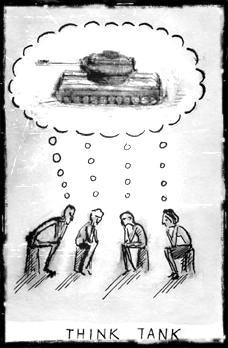 think tank cartoon
