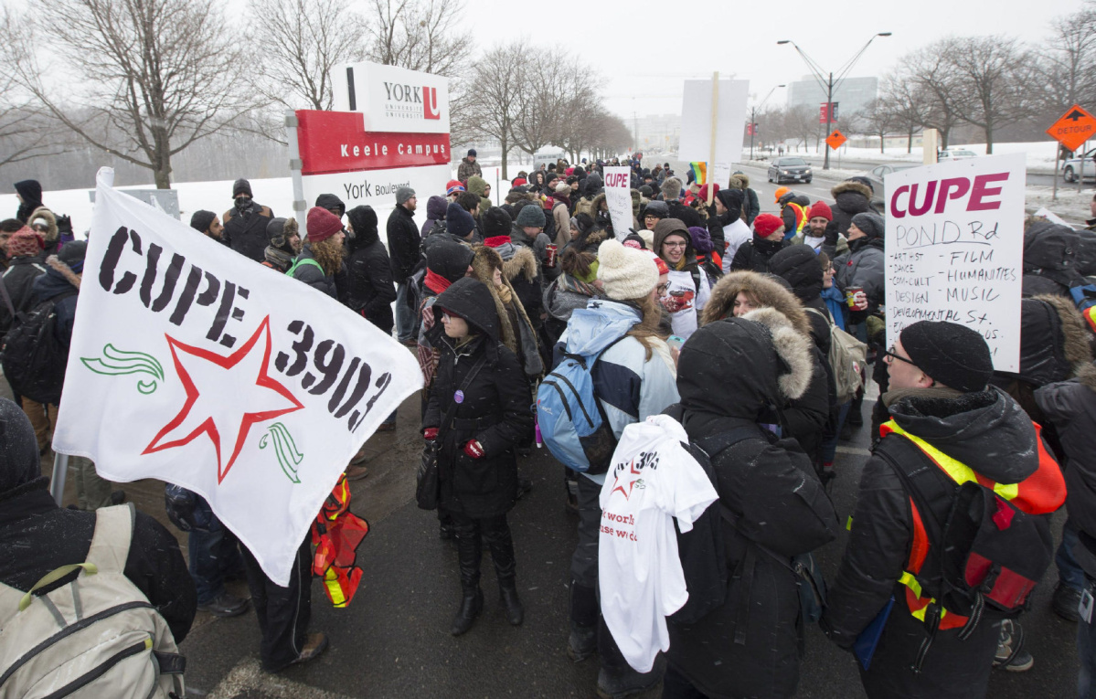 York University teaching assistants strike 2015