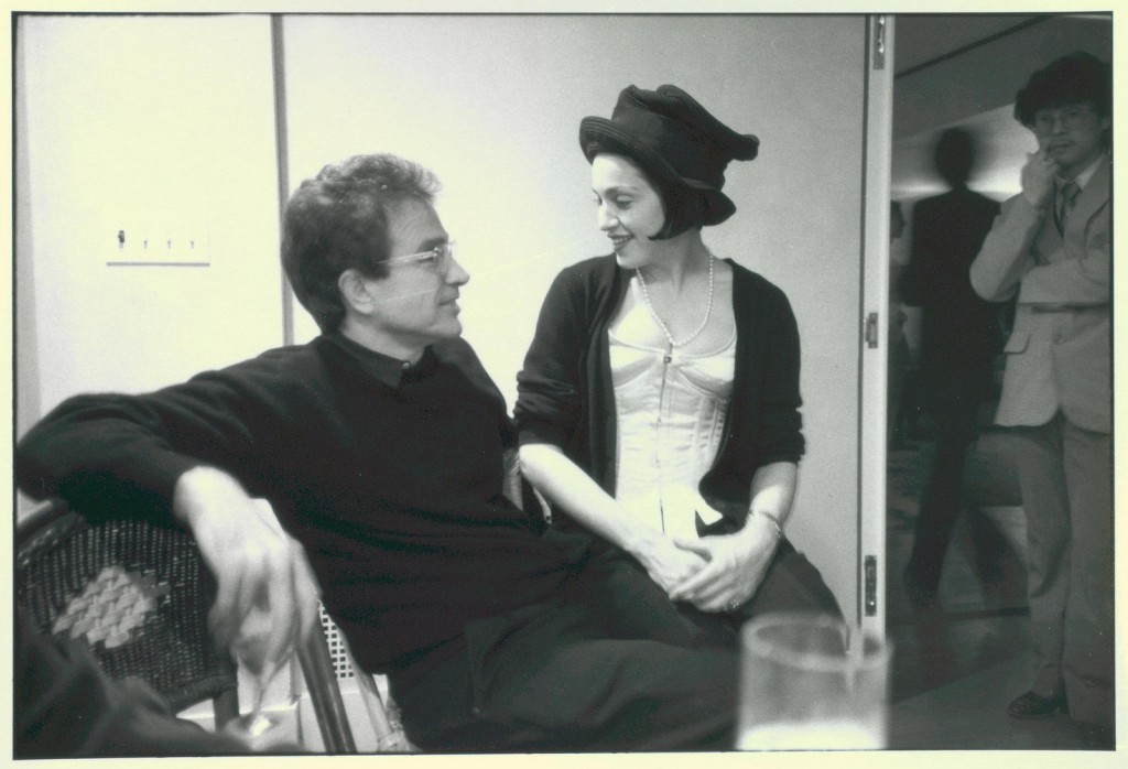 Warren Beatty and Madonna photo by Ginsberg