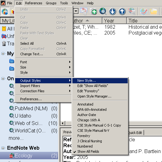 Endnote-styles