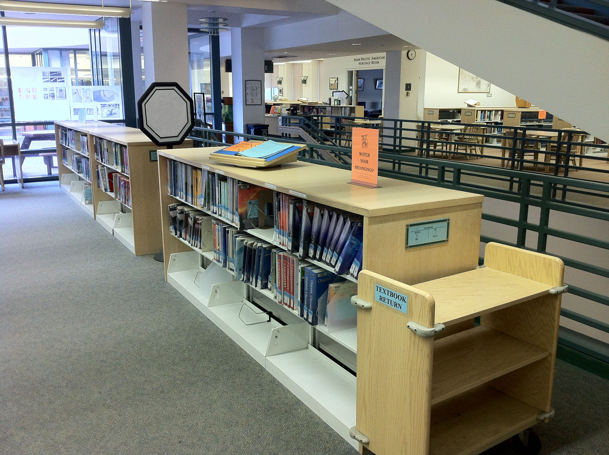 The Textbooks area inside the PCC Library