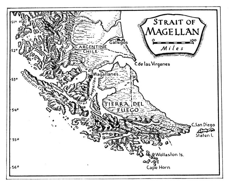 Map of Straits of Magellan