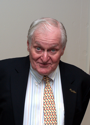Photo of John Ashbery from the Kelly Writers House Calendar February 2013