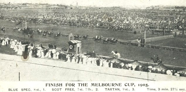 Melbourne Cup finish 1905