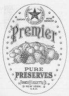 Premier Pure Preserves Francis H Leggett & Co New York, USA Trade Marks Journal 22 Aug 1928, p 1350