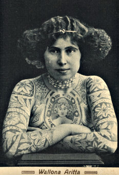 Wallona Aritta [tattooed lady] P.351/PC.2