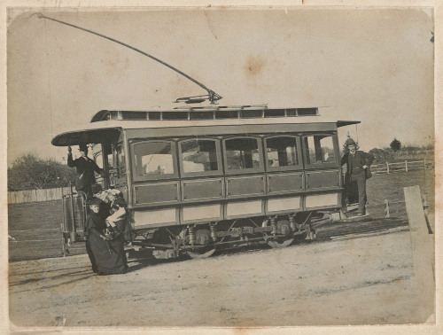 Photograph, Electric tramway running from Box Hill to Doncaster