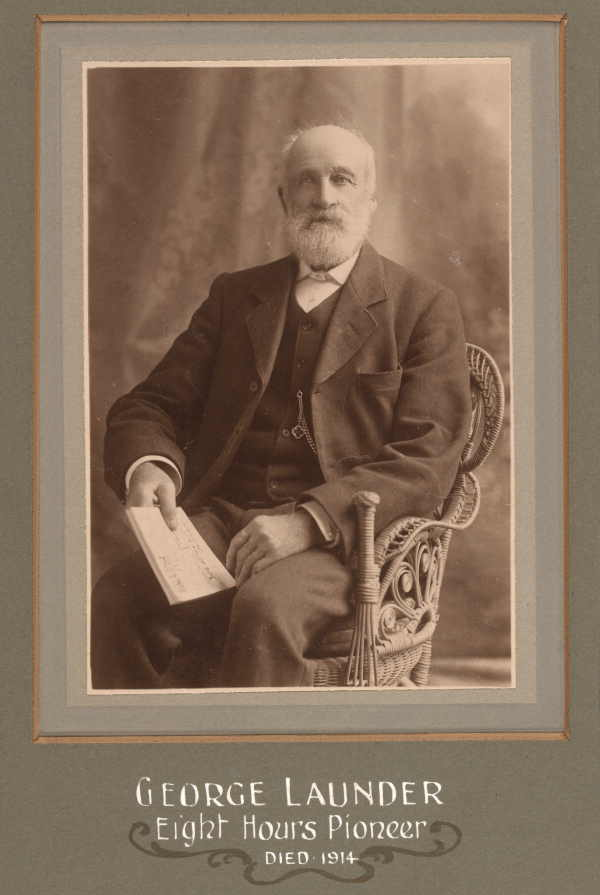 Photograph, seated portrait of George Launder - Eight Hour Day pioneer