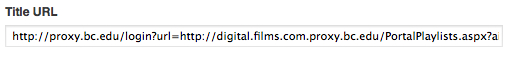Title URL