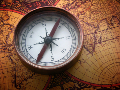 map and compass image