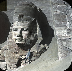 Abu Simbel, Egypt. Collection of Lantern Slides, Brooklyn Museum, USA.