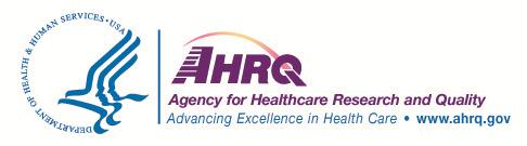 Screencapture of AHRQ logo from a report