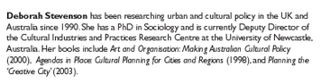 image of a small paragraph which includes information about the author and her credentials and academic affilations