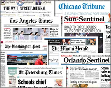 image of newspaper covers