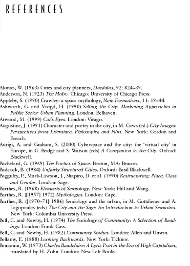 image of the references page, showing the sources and citations the author used