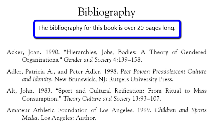 page of the ebook showing the bibliography