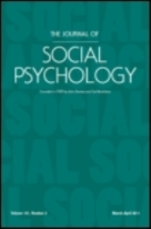 cover of the journal of social psychology
