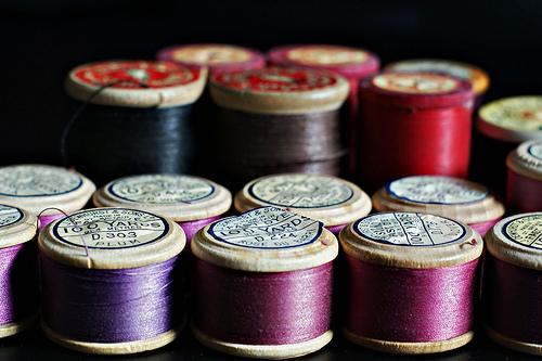 image of thread spools