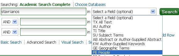 Sample Search Academic Search Complete, Reviewed Author