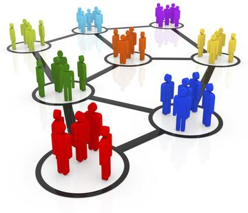 Image of groups of people connecting