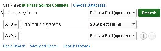 Storage systems keyword search