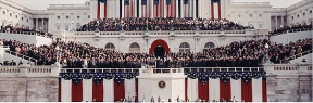 President George H. W. Bush being sworn in