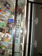 Broad view of the display case