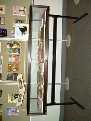 Front view of the broad side of the display case