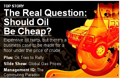 Should oil be cheap